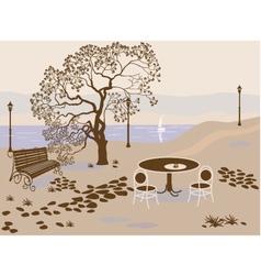 coffee park vector image