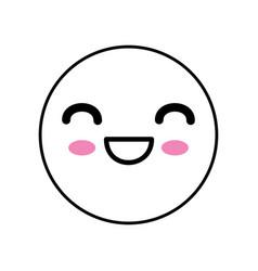 cute kawaii emoticon vector image vector image