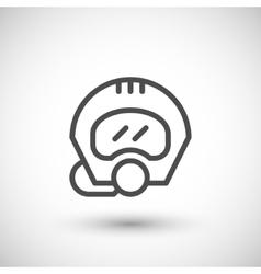 Diving helmet line icon vector