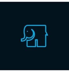 Elephant symbol vector image vector image