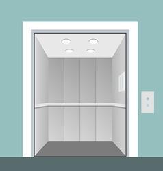 Elevator with opened door in vector image