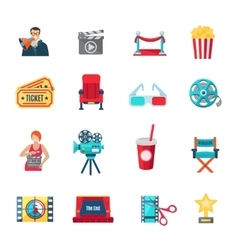 Filmmaking Icons Set vector image vector image