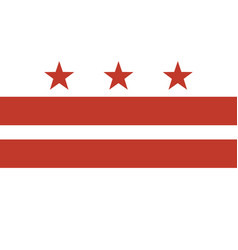 flag of the district of columbia vector image vector image