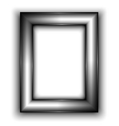 Frame for photo metal style vector