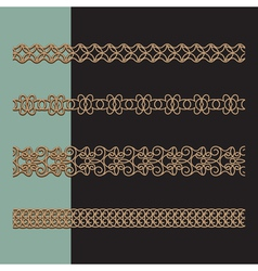 Gold border set vector image vector image