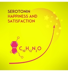 Happiness chemistry and satisfaction concept vector image vector image