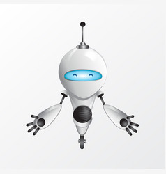 happy robot vector image