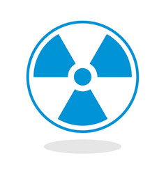 Icon of a radioactive symbol vector
