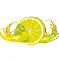juice splashes and lemon vector image