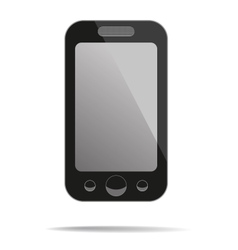 Mobile phone with blank screen vector image vector image