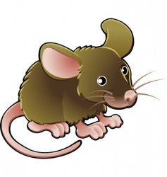 mouse illustration vector image vector image