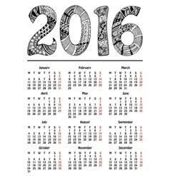 New year 2016 calendar vector