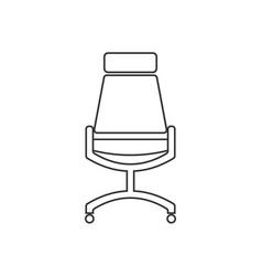 office chair line flat black and white vector image