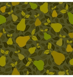pear seamless background vector image vector image