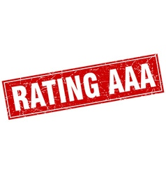 Rating aaa red square grunge stamp on white vector
