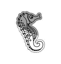 Sea horse animal vector