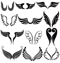 set of tattoo wings vector image vector image
