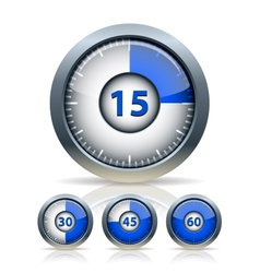 Set of timer clock vector image