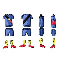 Soccer sportswear stylish design vector