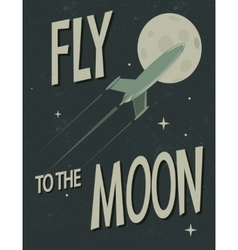spaceship fly to the moon vector image