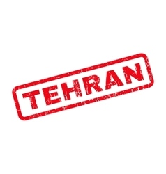 Tehran rubber stamp vector