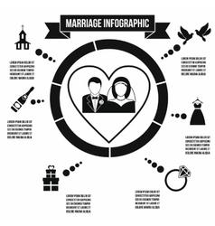 Wedding marriage infographic vector