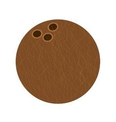 Whole coconut icon vector