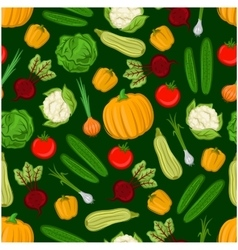 Organic vegetables seamless background vector