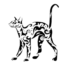 Graceful egyptian cat vector
