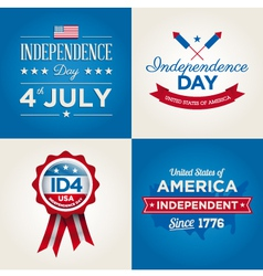 happy independence day usa cards fonts vector image