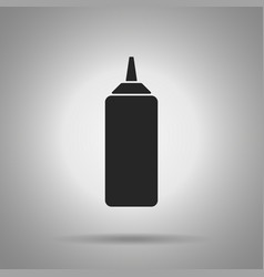 ketchup bottle icon  simple vector image