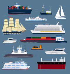 Ship cruiser boat sea symbol vessel travel vector