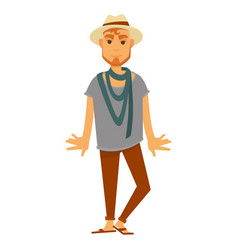 Man fashion model wearing style clothes vector