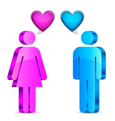 Man and woman love concept vector