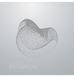 3d abstract shape of particles vector