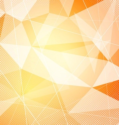 Crystal orange hi-tech modern background layout vector