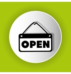 Open advert icon symbol design vector