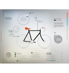 Bicycle and info graphic elements vector