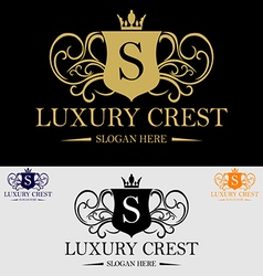Luxury crest logo vector