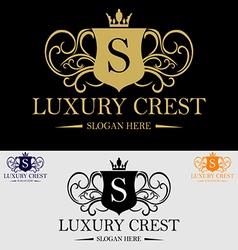 Luxury Crest Logo vector image