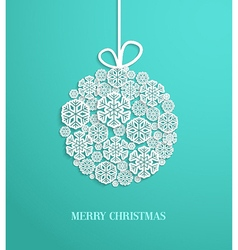 Christmas card with hanging toy vector