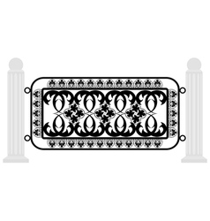 fence with iron grating vector image