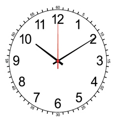 Image of wall clock isolated on white vector