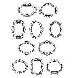 Set of retro frames with embellishments vector