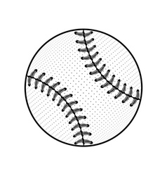 Baseball ball sign black isolated vector image