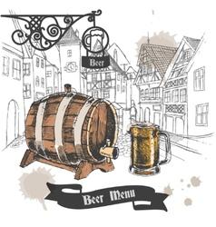 Beer bar menu poster vector