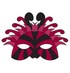 carnival mask drawing by vector image