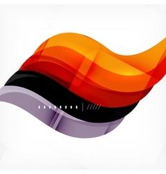 Color orange and purple stripes business design vector image