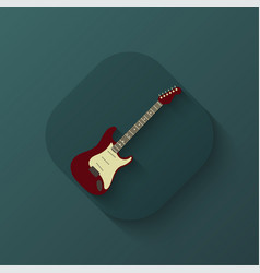creative guitar icon vector image