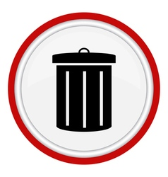 Garbage can icon vector